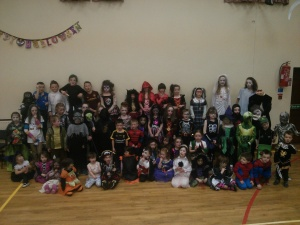 Kids at the Halloween Disco