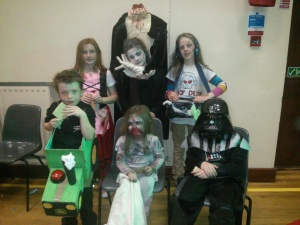 A selection of the fancy dress on show